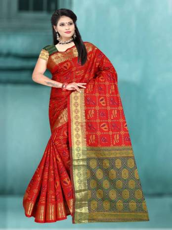 Soft Cotton Silk With Weaving Work Saree