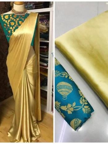 Modal Sattin silk saree