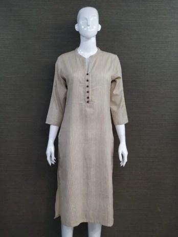 Cotton Stripe Fabric Kurti
