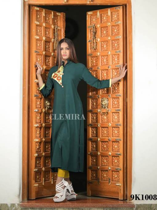 Rayon Kurti with heavy embroidery work