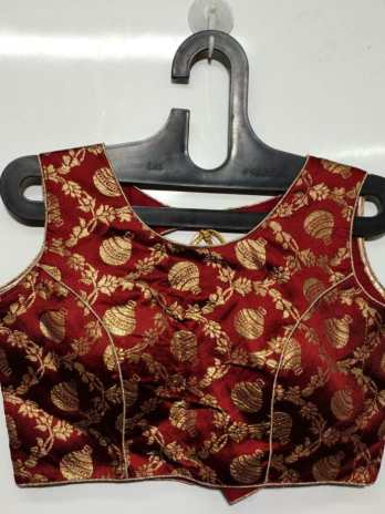 Brocket Silk Blouse