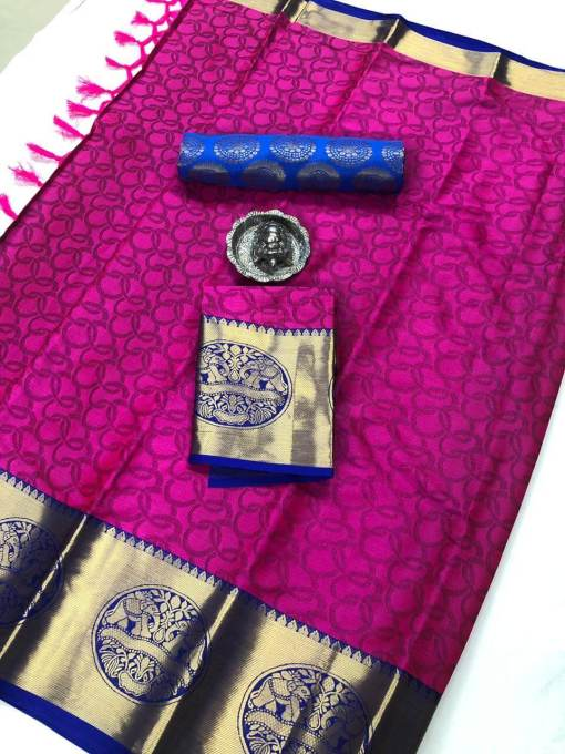 pure silk cotton with embossing