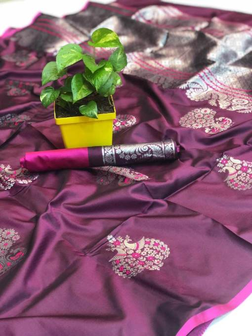 Banarsi Silk Saree with Mina Work