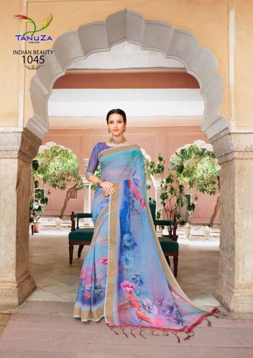 Linen Fabric Saree