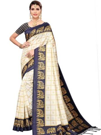 Mysore Silk Printed Fancy Saree