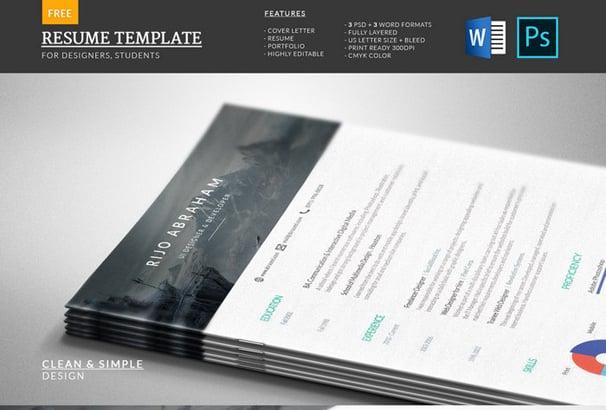 40 Free Resume Templates 2018 Professional & 100 Free
