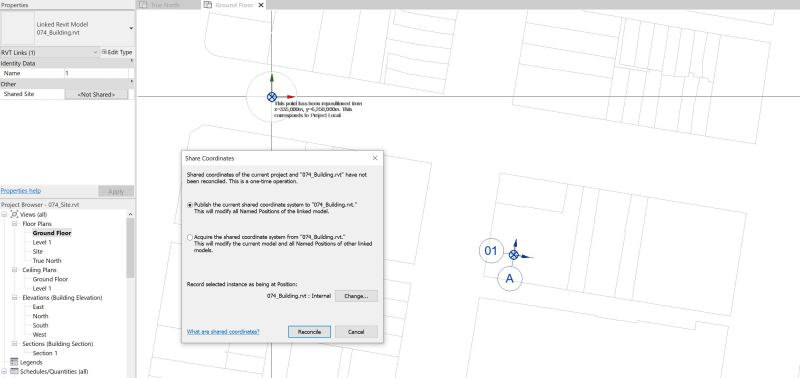 Setup shared coordinates