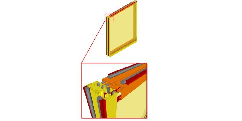 LOD 400 model of exterior window wall, BIM Forum