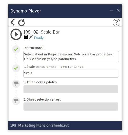Dynamo Player - Set scale bar