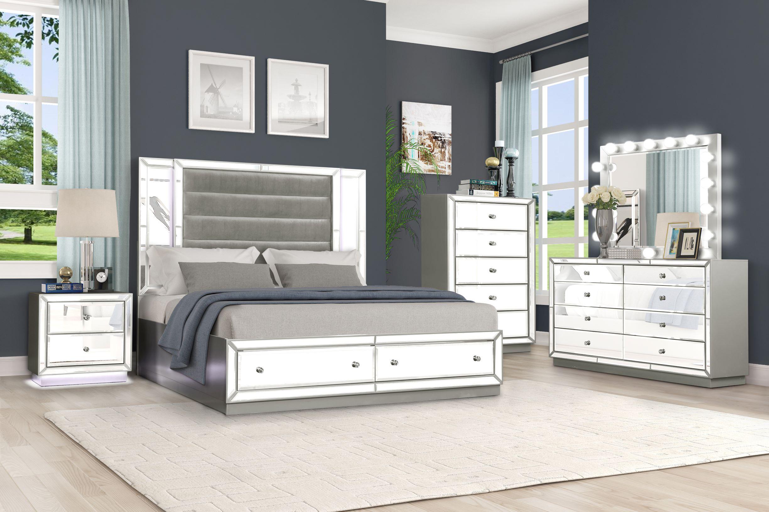 mirrored bedroom set 1151