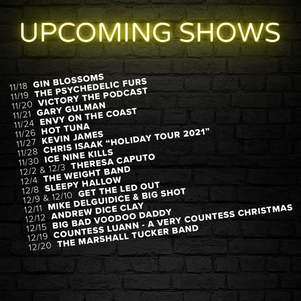 Upcoming Show List 2