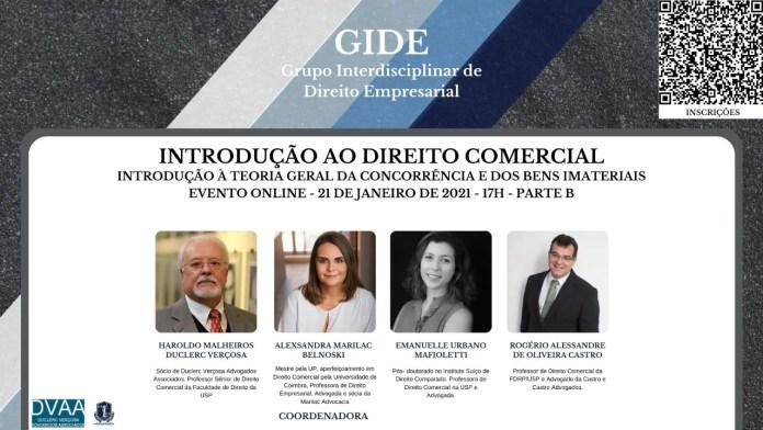 Grupo Interdisciplinar de Direito Empresarial encerra série de aulas de curso livre de Direito Comercial