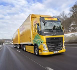 DHL inicia testes com um Volvo FH Elétrico na Europa