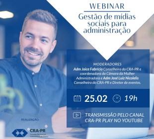 CRA-PR realiza webinar sobre mídias sociais para profissionais da administração
