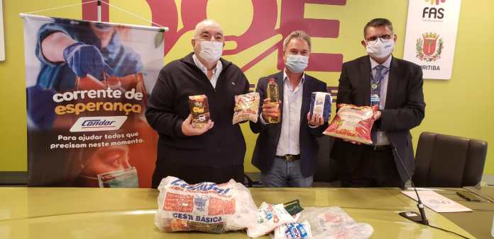 Condor entrega mais de 70 toneladas de alimentos para Curitiba e São José dos Pinhais