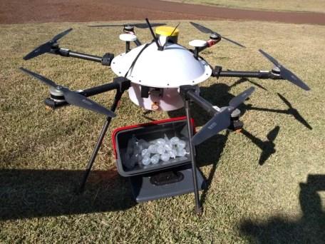BRF testa drones para entrega de materiais em granjas