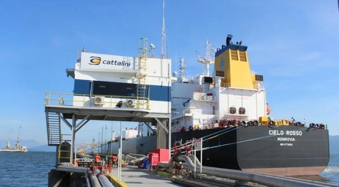 Cattalini Terminais recebe o maior navio da sua história