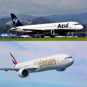 Emirates assina acordo para voos codeshare com Azul