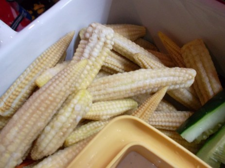 old and raw young corn
