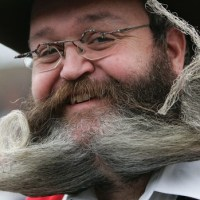 Alemão ganha concurso... de barbas e bigodes!