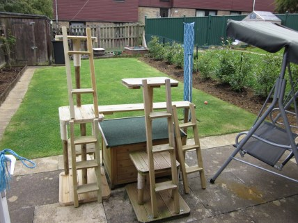 The finished article, in place, with the older 'Almond' unit in the foreground.