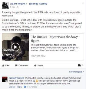 Splendy Games Facebook reply