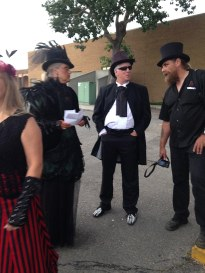 Our hearse buddies at At the 2014 HorrorCon in Calgary, AB