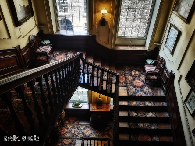 Beautiful staircase inside Calke Abbey