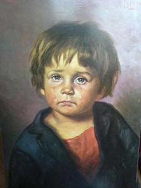 Crying Boy Painting | History Including a Forgotten Artist