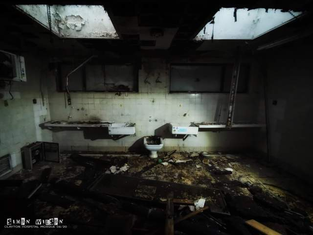 Clayton Hospital Morgue 2020 | Explore and Compare to 2014 | Decaying State