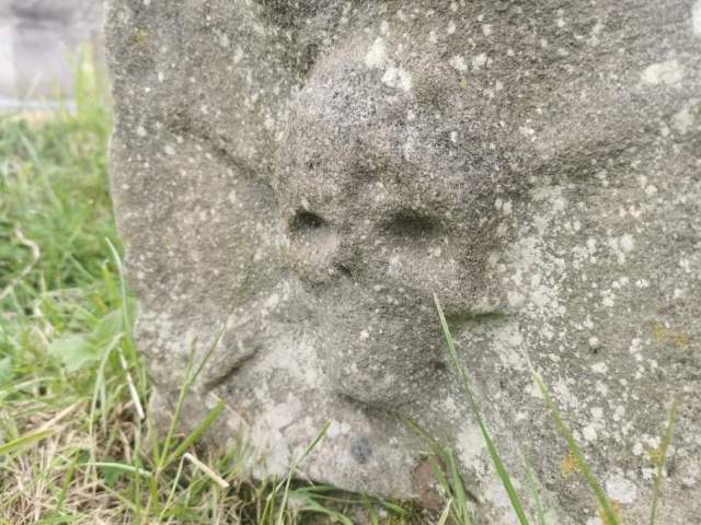 Skull and Cross Bones Grave's of St Marys Churchyard in Whitby