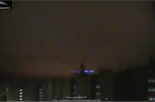 Lumières étranges dans la nuit en Russie