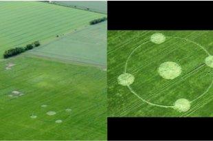 Trois cas de crop circles au Royaume-Uni en 4 jours, dont 2 la même nuit.