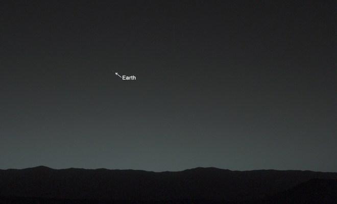La première photo de la Terre vue de Mars
