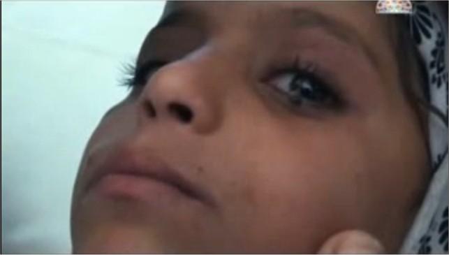 La petite fille qui pleure des larmes de pierre