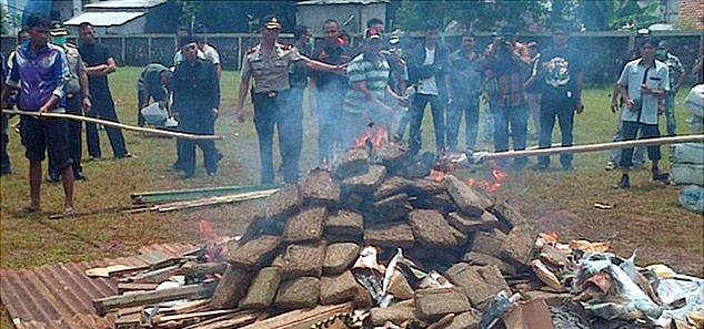 Les autorités indonésiennes ont eu l'idée de brûler du cannabis... Résultat: ils ont drogué toute une ville !