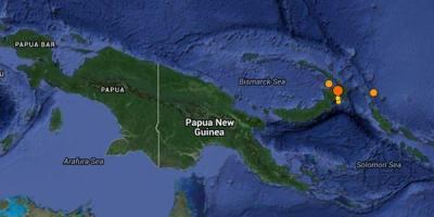 Séisme de 7.1 en Papouasie Nouvelle Guinée