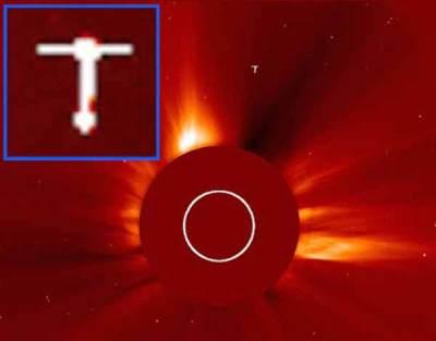 Un gigantesque ovni capturé dans une photo de la NASA près du soleil