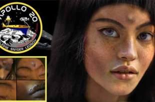 Mona Lisa, la fille extraterrestre découverte sur la Lune lors de la mission Apollo 20