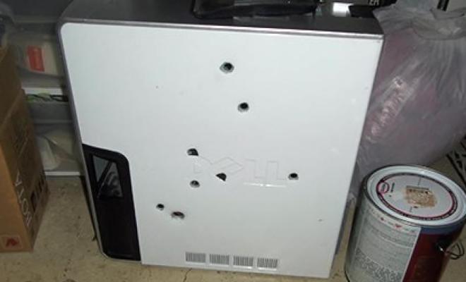 Américain a abattu son ordinateur de sang froid et va devoir en répondre devant la justice