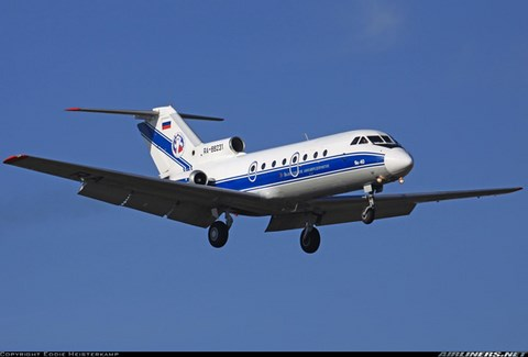 Atterrissage à Moscou d'un Yakovlev Yak-40 (Crédit: Eddie Heisterkamp / Airliners.net)