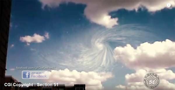 Le CERN joue à DIEU et crée un VORTEX dans le ciel de Genève
