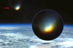 Un Gigantesque Vortex s'ouvre dans l'espace à proximité de la Terre vu de l'ISS