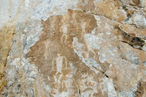 Un pétroglyphe du lac Baïkal