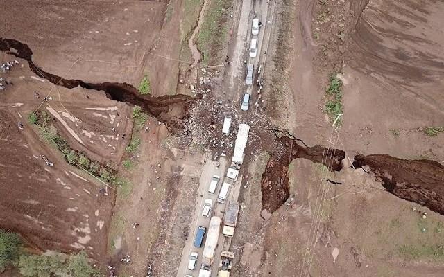 Une énorme fissure s'ouvre au Kenya