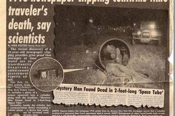 Dans un journal de 1918, des scientifiques confirment le décès d'un VOYAGEUR TEMPOREL