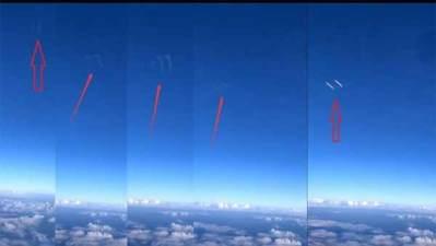 Vidéo: Deux objets non identifiés de forme cylindrique ont été filmés par des passagers d'un long courrier chinois