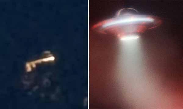 """Observation d'OVNI : Un """"vaisseau spatial extraterrestre"""" ABATTU dans le ciel écossais"""
