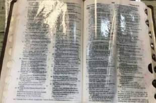 Une Bible suinte de l'Huile miraculeuse en Géorgie