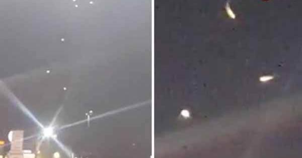 Une flotte d'OVNIs qui descend au Texas dans une vidéo insolite